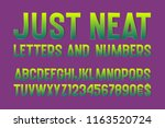 just neat letters and numbers... | Shutterstock .eps vector #1163520724