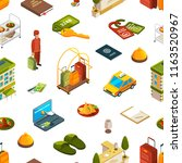 vector colored 3d isometric... | Shutterstock .eps vector #1163520967