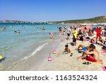 cesme izmir turkey august 24... | Shutterstock . vector #1163524324