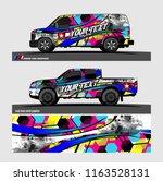 pickup truck and van livery... | Shutterstock .eps vector #1163528131