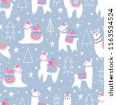 christmas seamless pattern with ... | Shutterstock .eps vector #1163534524