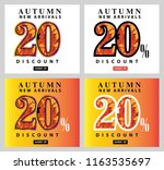 autumn sale interest offer card ... | Shutterstock .eps vector #1163535697