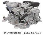 engine under the white...   Shutterstock . vector #1163537137