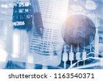 modern way of exchange. bitcoin ... | Shutterstock . vector #1163540371