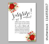 wedding invitation card with...   Shutterstock .eps vector #1163552017