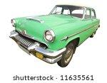 light green american retro car ...   Shutterstock . vector #11635561