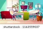 hospital ward vector... | Shutterstock .eps vector #1163559037