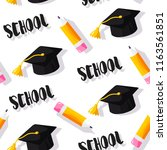 school pattern with square... | Shutterstock .eps vector #1163561851