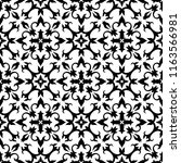 black and white seamless floral ... | Shutterstock .eps vector #1163566981