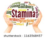 stamina is staying power or... | Shutterstock . vector #1163568457