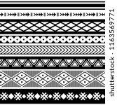 ethnic boho tribal indian... | Shutterstock .eps vector #1163569771