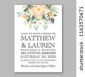 wedding invitation peach soft... | Shutterstock .eps vector #1163570671