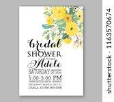 wedding invitation peach soft...   Shutterstock .eps vector #1163570674