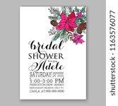 poinsettia bridal shower... | Shutterstock .eps vector #1163576077
