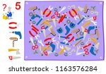logic puzzle game for young...   Shutterstock .eps vector #1163576284