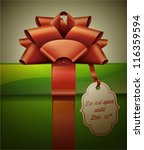 gift box with red ribbon bow... | Shutterstock .eps vector #116359594