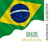 7 september  brazil... | Shutterstock .eps vector #1163602594