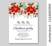 red poinsettia christmas party... | Shutterstock .eps vector #1163604304
