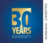 30 years warranty gold blue... | Shutterstock .eps vector #1163607514