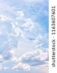 cloudscape summer day | Shutterstock . vector #1163607601
