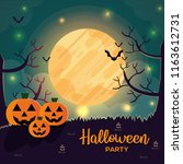 cartoon special halloween day... | Shutterstock .eps vector #1163612731