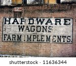 Sign From Late 1800s Hardware...