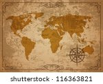 old map. vector paper texture. | Shutterstock .eps vector #116363821