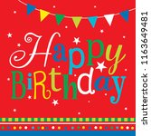 colorful birthday greeting card | Shutterstock .eps vector #1163649481