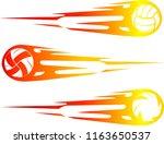 volleyball comet design set   Shutterstock .eps vector #1163650537