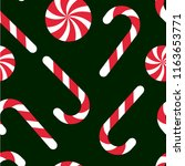 candy chritsmas seamless... | Shutterstock .eps vector #1163653771
