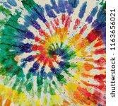 tie dye pattern. hand drawn... | Shutterstock . vector #1163656021