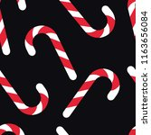 red candy cane christmas vector ... | Shutterstock .eps vector #1163656084