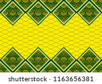 textile fashion african print... | Shutterstock .eps vector #1163656381