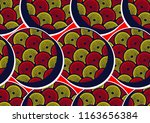 textile fashion african print... | Shutterstock .eps vector #1163656384