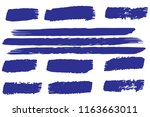 collection of hand drawn blue... | Shutterstock .eps vector #1163663011