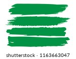 collection of hand drawn green... | Shutterstock .eps vector #1163663047