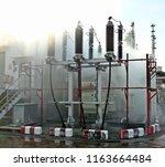 power transformer maintenance ... | Shutterstock . vector #1163664484