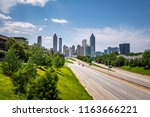 the jackson street bridge in... | Shutterstock . vector #1163666221