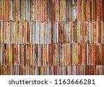rusty worn metal texture... | Shutterstock . vector #1163666281