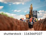 group of worker and... | Shutterstock . vector #1163669107