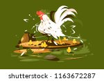 rooster daddy with yellow... | Shutterstock .eps vector #1163672287