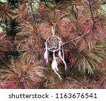 dream catcher on the background ... | Shutterstock . vector #1163676541