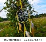dream catcher on the background ... | Shutterstock . vector #1163676544