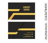 modern business card template... | Shutterstock .eps vector #1163678404