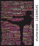 woman as martial artist  text... | Shutterstock . vector #116368141
