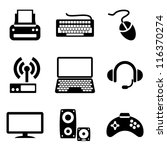 Set Vector Computer Icons Of...