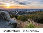 dawn from the hollywood bowl... | Shutterstock . vector #1163704867