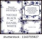 romantic wedding invitation... | Shutterstock .eps vector #1163705827