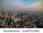aerial view of modern asian... | Shutterstock . vector #1163721301