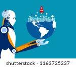 artificial intelligence  holds... | Shutterstock .eps vector #1163725237
